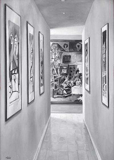 Meninas-Picasso-93x65-acrilico-y-oleo-tabla
