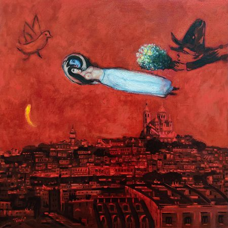 Marc Chagall_60x60_acrilico yoleo_lienzo_2020
